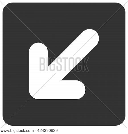 Left Down Direction Icon With Flat Style. Isolated Vector Left Down Direction Icon Illustrations, Si