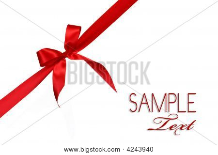Red Gift Ribbon Bow