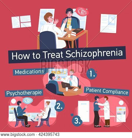 How To Treat Schizophrenia. Patient And Doctor.