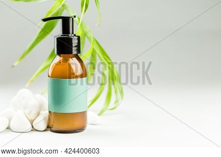 Face Cleansing Oil Or Gel, Skin Care Product, Makeup Removal, Facial Cleanser With Blank Label
