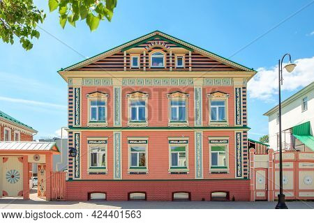 View Of The Colorful Old Tatar House At Old Tatar Settlement In Kazan, Russia.