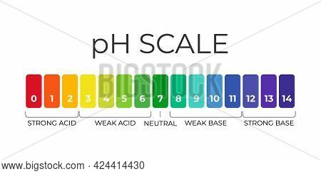 Ph Value Scale Chart For Acid-alkaline Solution. Acid-base Balance Infographic Isolated On White Bac