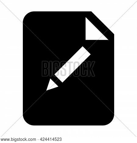 Edit Document File Icon Vector With Editing Symbol For Business Application Data And Finance In A Gl