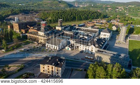 Aerial View Of Former Mine In The Town Of Walbrzych, Poland. Now Museum Of Industry And Technology A