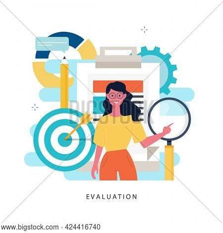Evaluation, Examination Questionnaire, Planning Project, Business Assessment, Data Collecting Flat V