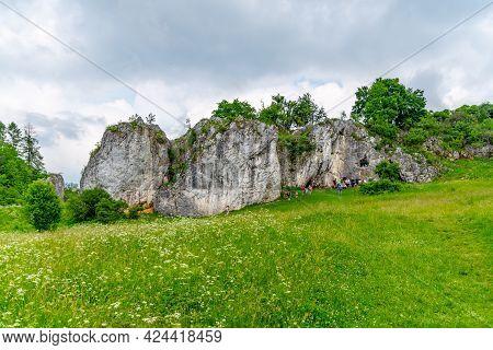 Kolibky - Limestone Rock Formation In Rudice Sink, Czech: Rudicke Propadani, Moravian Karst, Czech R
