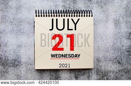 Save The Date Written On A Calendar - July 21