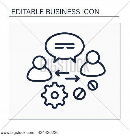 Communication Line Icon.advice And Support To Owners, Directors, Employees, Potential Clients. Discu