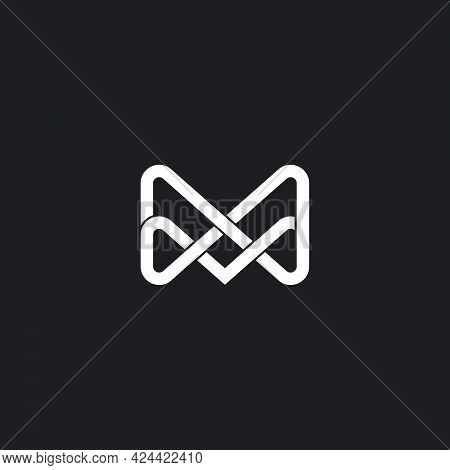 Letter Ma Abstract Infinity Overlapping Line 3d Logo Vector