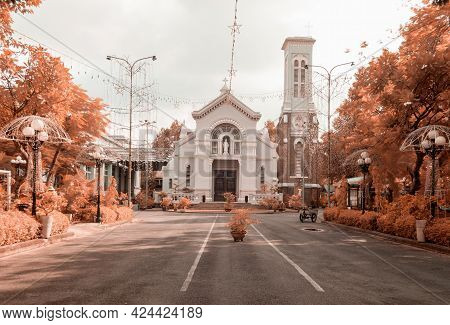 Infrared Landscape Photo: Hanh Thong Tay Church