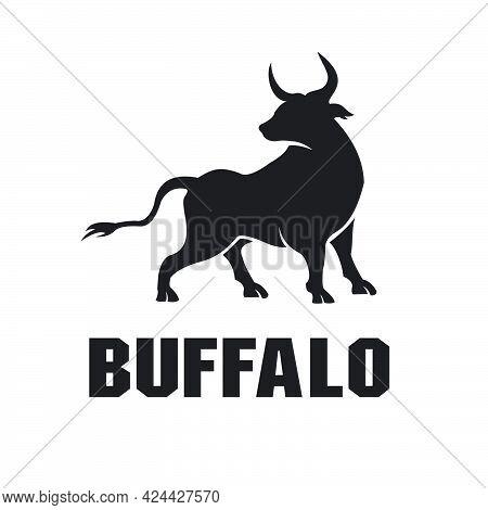 Buffalo Bull Black Logo Exclusive Design Inspiration