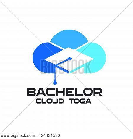 Bachelor Cloud Toga Graduation Exclusive Logo Design Inspiration