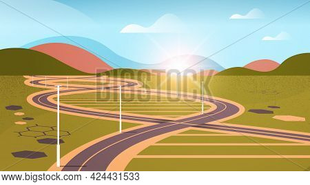Meadow With Road In Genetic Dna Shape Helical Molecule Structure Clinic Medical Treatment Research A