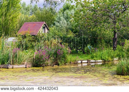 Marshes in Bourges, Berry province,