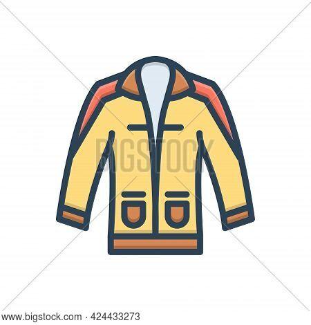 Color Illustration Icon For Clothing Dress Costume Attire Raiment Garment