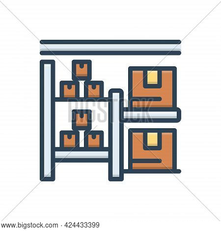 Color Illustration Icon For Stock Goods Cargo Wares Commodities