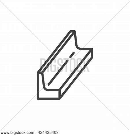 Metal Beam Line Icon. Linear Style Sign For Mobile Concept And Web Design. Steel Beam Outline Vector