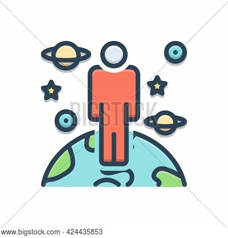 Color Illustration Icon For Icann Capacity Efficiency Competency Ability Person