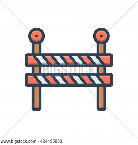 Color Illustration Icon For Impediment Obstacle Obstruction Hindrance Interrupt Hindrance