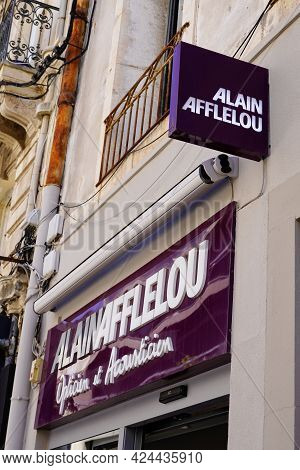 Toulouse , Occitanie France - 06 16 2021 : Alain Afflelou Text Sign And Brand Logo Front Of Medical