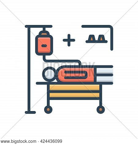 Color Illustration Icon For Incidence Phenomenon Accident Occurrence Phenomena Treatment Medical