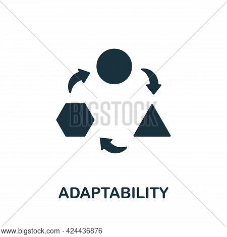 Adaptability Icon. Monochrome Simple Element From Soft Skill Collection. Creative Adaptability Icon