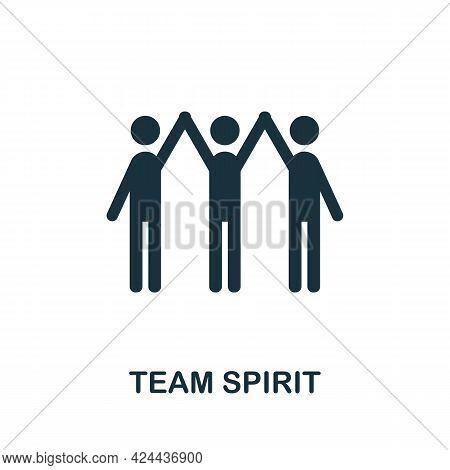 Team Spirit Icon. Monochrome Simple Element From Soft Skill Collection. Creative Team Spirit Icon Fo
