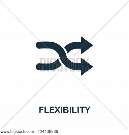 Flexibility Icon. Monochrome Simple Element From Soft Skill Collection. Creative Flexibility Icon Fo