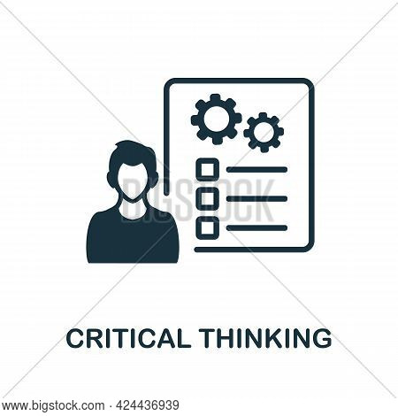 Critical Thinking Icon. Monochrome Simple Element From Soft Skill Collection. Creative Critical Thin