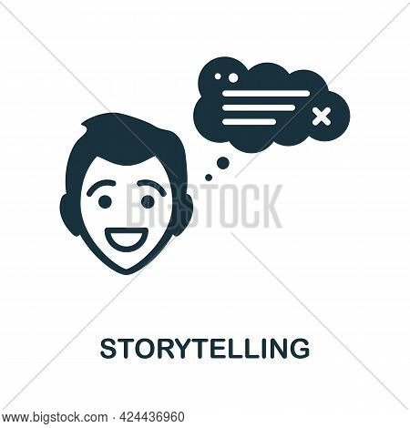 Storytelling Icon. Monochrome Simple Element From Soft Skill Collection. Creative Storytelling Icon
