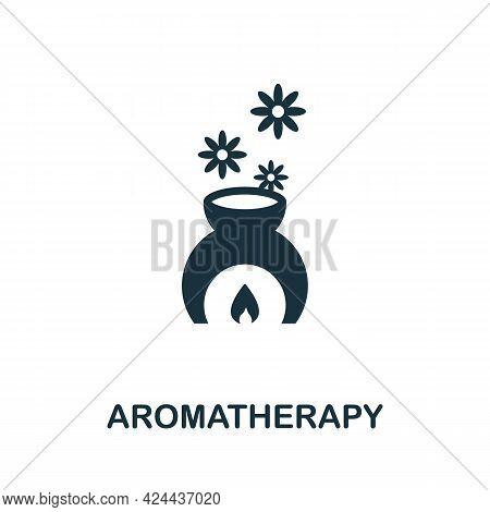 Aromatherapy Icon. Monochrome Simple Element From Therapy Collection. Creative Aromatherapy Icon For