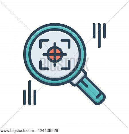 Color Illustration Icon For Finder Search Quest Discovery Find