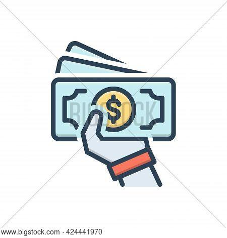 Color Illustration Icon For Installments Portion-of-debts Part-payment Premium