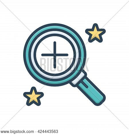 Color Illustration Icon For Overview Inspection Oversight Preview