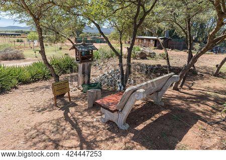Mcgregor, South Africa - April 8, 2021: A Memorial Cairn For Donkeys At Eseltjiesrus Donkey Sanctuar