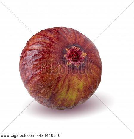 Fresh Figs Fruit Isolated On White Background