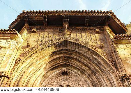 Beautiful And Colossal Porch In Renaissance House In Alcaraz Street, Castile-la Mancha, Spain