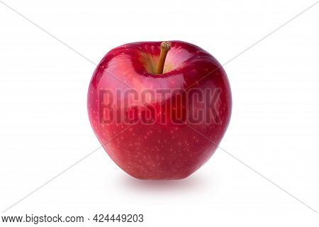 Fresh Red Apple Fruit Isolated On A White Background