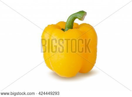 Yellow Bell Pepper Isolated On A White Background