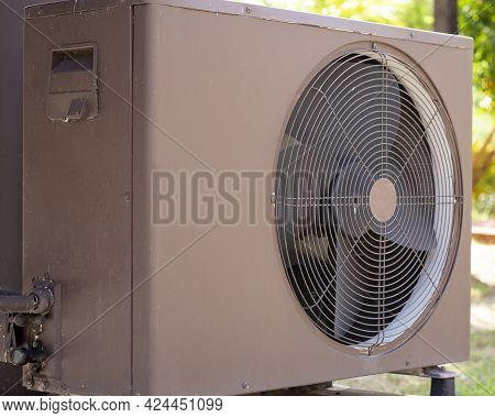 Air Condition Outdoor Unit Compressor Install Outside The House,condenser Unit In Central Air Condit