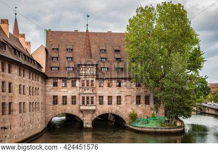 Hospice of the Holy Spirit in Nuremberg, Germany. Landmark