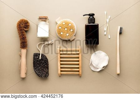 Eco Friendly Concept. Eco Friendly Tools For Body Care And Cleaning