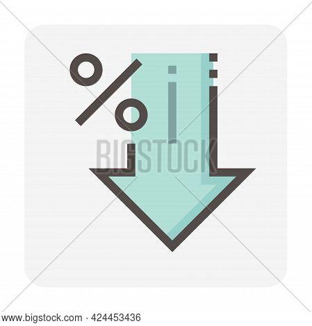Increase Decrease And Arrow Vector Icon Set Design, 48X48 Pixel Perfect And Editable Stroke.