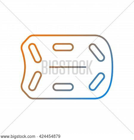 Rescue Board Gradient Linear Vector Icon. Water Rescue Operations. Floatation Device. Supporting Vic