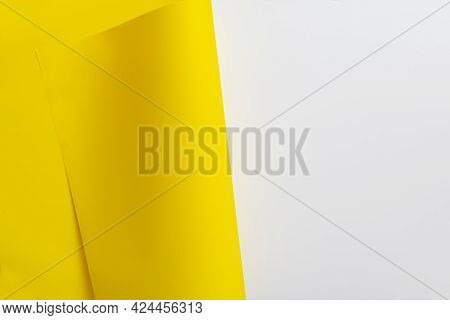 Folded Colorful Paper Sheet Page Turning As The Concept Of New Life Chapter, New Day