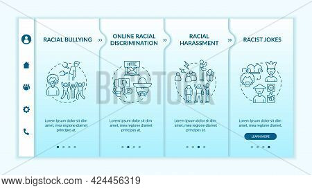 Racism In Society Onboarding Vector Template. Responsive Mobile Website With Icons. Web Page Walkthr