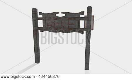 Old Wooden Road Sign Isolated On White City Sign Welcome To Salem 3d-illustration 3d-rendering