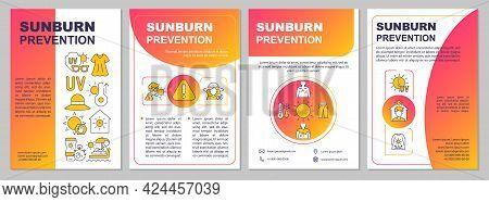Sunburn Prevention Brochure Template. Sun Protective Clothing. Flyer, Booklet, Leaflet Print, Cover