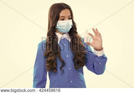 Child Presenting Nasal Spray. Runny Nose Coronavirus Symptom. Flu Sars Therapy. Covid Symptomatic Tr