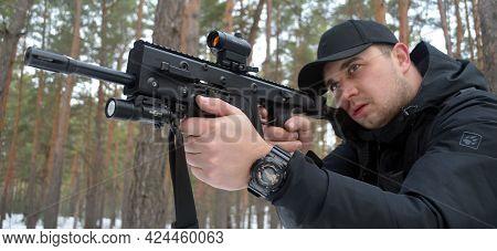 Unformal shooting range near Kiev. February 27, 2021. Kiev Region, Ukraine